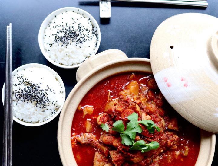 Dakbokkeumtang - Spicy Braised Chicken Stew