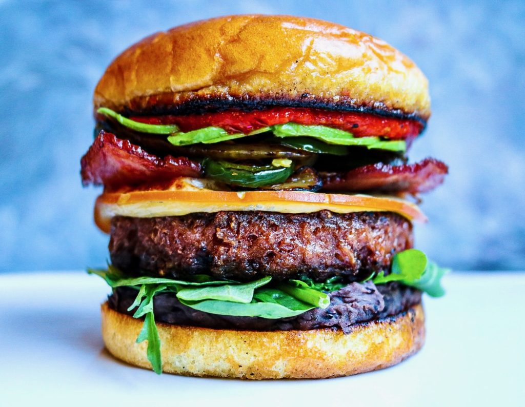 Beyond Meat Jalapeno Trukey Bacon Burger Flexitarian Recipe