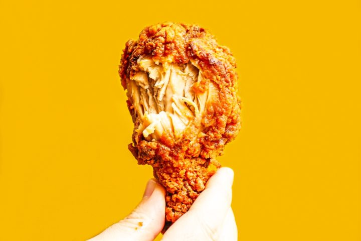 Tasty Japanese golden-fried chicken